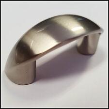 20x Satin Nickel Lip Pull Handles - For Draws, Doors Cupboards & Cabinets