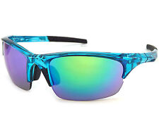 DIRTY DOG sports ECCO Sunglasses Xtal Blue with Blue Fusion Mirror Lenses 58062