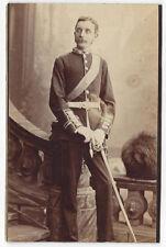CABINET CARD Photograph Victorian Soldier Wearing Dress Uniform
