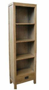 Parklane Solid Oak Timber  Bookshelf 55cm x32cm x185cm Beautiful Quality