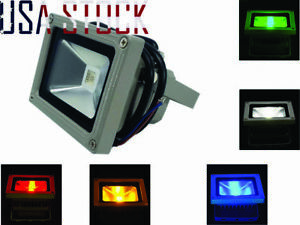 LED Light 10W Outdoor Spotlight Landscape Lamp w/o US Plug DC 12-24V