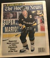 1996 HOCKEY News PITTSBURGH Penguins MARIO LEMIEUX Comeback Player of the Year