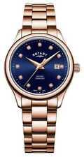 Rotary | Dames Oxford | Rosé Goud Pvd Verguld LB05096/05/D Horloge