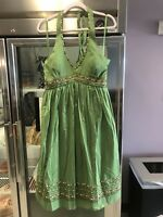 Jessica Howard Green Beaded Missy Dress size 12 NWT