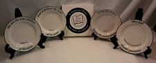 FEED ON THE WORD SCRIPTURE SERVING PIECE-SET OF 4 APPETIZER PLATES-NEW IN BOX