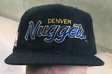 Vintage Denver Nuggets Script NBA Black Dome Sports Specialties SnapBack