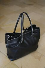 Damen Handtasche Tasche bag schwarz black Strenesse echtes Leder