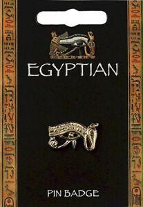 Egyptian Wadjet Eye Gold Plated Pewter Lapel Pin Badge