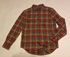 NWT New ABERCROMBIE & FITCH Men's Red Plaid Flannel shirt XS