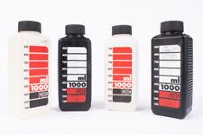 JOBO 1000 ml Chemical Bottles With Caps 2 White 2 Black V12