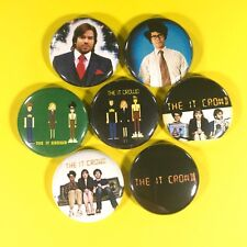 "IT Crowd 1"" Button Pin Set British Comedy Office"