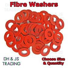 105 ASSORTED PIECE RED FIBRE SEALING FLAT WASHERS M3 M4 M5 M6 M8 M10 M12 M16 KIT