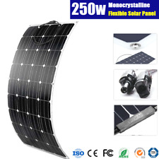 250W FLEXIBLE MONO SOLAR PANEL KIT CARAVAN BOAT 4WD 12V BATTERY CHARGING 250WATT