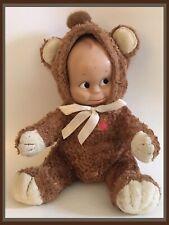 Jesco Kewpie Plush Brown Bear - Charisma Brands - Adorable!