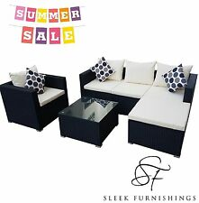 RATTAN GARDEN FURNITURE SET SOFA TABLE CHAIRS GARDEN PATIO CONSERVATORY