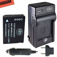 BM DMW-BCG10 Battery & Charger for Panasonic DMC-ZS10,ZS15,ZS19,ZS20,ZS25,ZX1