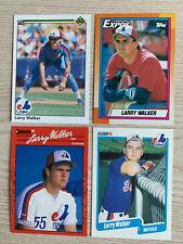 1990 Larry Walker Rookie Card lot - Upper Deck, Donruss, Fleer, Topps