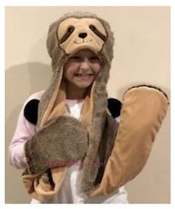 ~❤️ELKA SLOTH HAT with PAWS plush soft toy Dress-Up 95cms BNWT~❤️