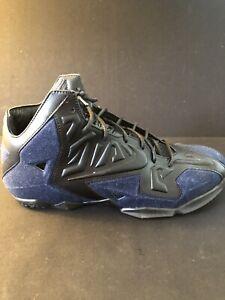 Nike Lebron XI 11 Ext Denim QS Black Denim Size 11 OG Box 659509-004 New Rare