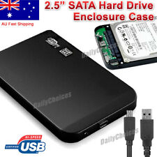 USB 2.0 2.5 SATA Hard HDD Drive Disk Slim External Enclosure Case Screw Free