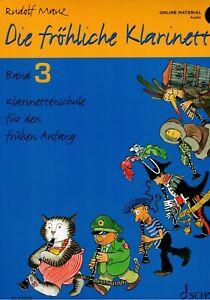 Klarinette Noten Schule : Die fröhliche Klarinette Band 3 MAUZ - Audio-Download