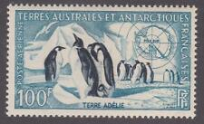 French Southern & Antarctic Territory 1956 #C2 Emperor Penguins and Map - MNH