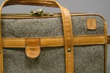 vintage HARTMANN TWEED & leather belted Carry-on 3 zipper compartment + hangers