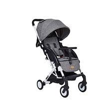 Grey Foldable Baby Kids Travel Stroller Newborn Infant Buggy Pushchair Child