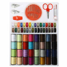 64 spools assorted colors sewing threads needles set sewing tools accessory