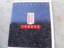 NOS 1991 CHEVROLET CAMARO AND CAMARO Z28 Z/28 DEALER SALES BROCHURE UNCIRCULATED