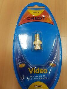 Crest Video RCA Socket to BNC Plug Adapter - XBNC6