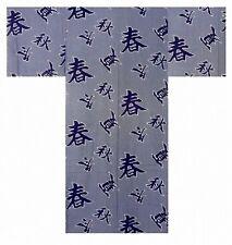 "DM-S00618-01-WH YUKATA with Obi S-M-L-LL-3L(56""-58""-60""-62""-64"") JAPAN MEN's"