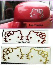 ADESIVO STICKERS 2 x Hello Kitty  CROMATO  AUTO CAMION CAMPER CAR -2 colori