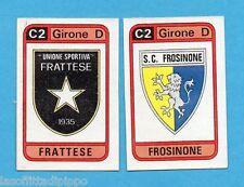 PANINI CALCIATORI 1983/84 -Figurina n.580- FRATTESE+FROSINONE - SCUDETTO -Rec