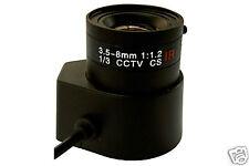 3.5-8MM 8 MM CCTV IR Lens Auto-Iris f color, B/W Camera