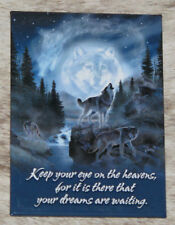 """LEANIN TREE """"Moon Wolf"""" Eye on the Heavens, There Dreams Waiting #31265 Magnet~"""