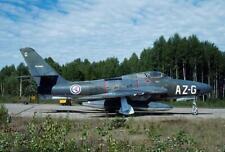 Norway F-84 Thunderjet 51-17053 yr 1990 Gardermoen H1491 35mm Aircraft Slide