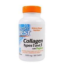 Collagen, Best, Types 1 & 3, 1000mg, 180Tabs, Doctors Best, 24Hr Dispatch