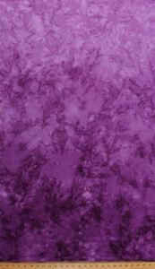 Batik Purple Ombre Gradations Hand Painted Cotton Fabric Print BTY D307.04