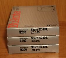 (3) NUKOTE - B200 SHARP ~ TYPEWRITER INK RIBBONS - XQ 345 ~ ZX 400