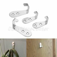 Stainless Steel Wall Mounted Hanger Hooks Kitchen Bathroom Clothes Towel 2pcs