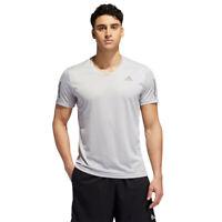adidas Mens Own The Run T Shirt Tee Top - Grey Sports Running Breathable