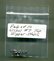 #10 Antique Brass Top Zipper Stops Heavy Duty Pack of 100 YKK New!