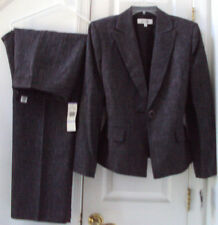 NEW! MACY'S SUIT STUDIO 18 BLACK WHITE SPECKLED BLAZER PANT SUIT BOTH LINED $200
