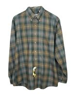 VTG Viyella Plaid L/S Button-Front Shirt Cotton-Wool Blend Size Large USA
