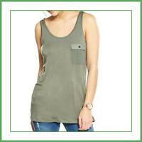 Womens Quality V By Very Khaki Utility Vest Top Sizes 14 16 18 RRP £12 Tank Top