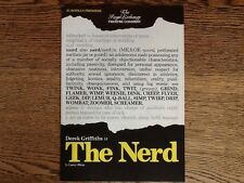 The Nerd by Larry Shue 1982 Derek Griffiths Gary Waldhorn European Premiere