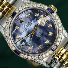 Rolex 31mm Datejust Watch Tahitian MOP Dial with Sapphire & Diamond Bezel