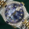 Rolex 36mm Datejust Watch Tahitian MOP Dial with Sapphire & Diamond Bezel