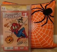 AMAZING SPIDER-MAN:#1 CGC 9.6 SS STAN LEE;SIGN & SKETCH JONES LUGO; GOBLIN